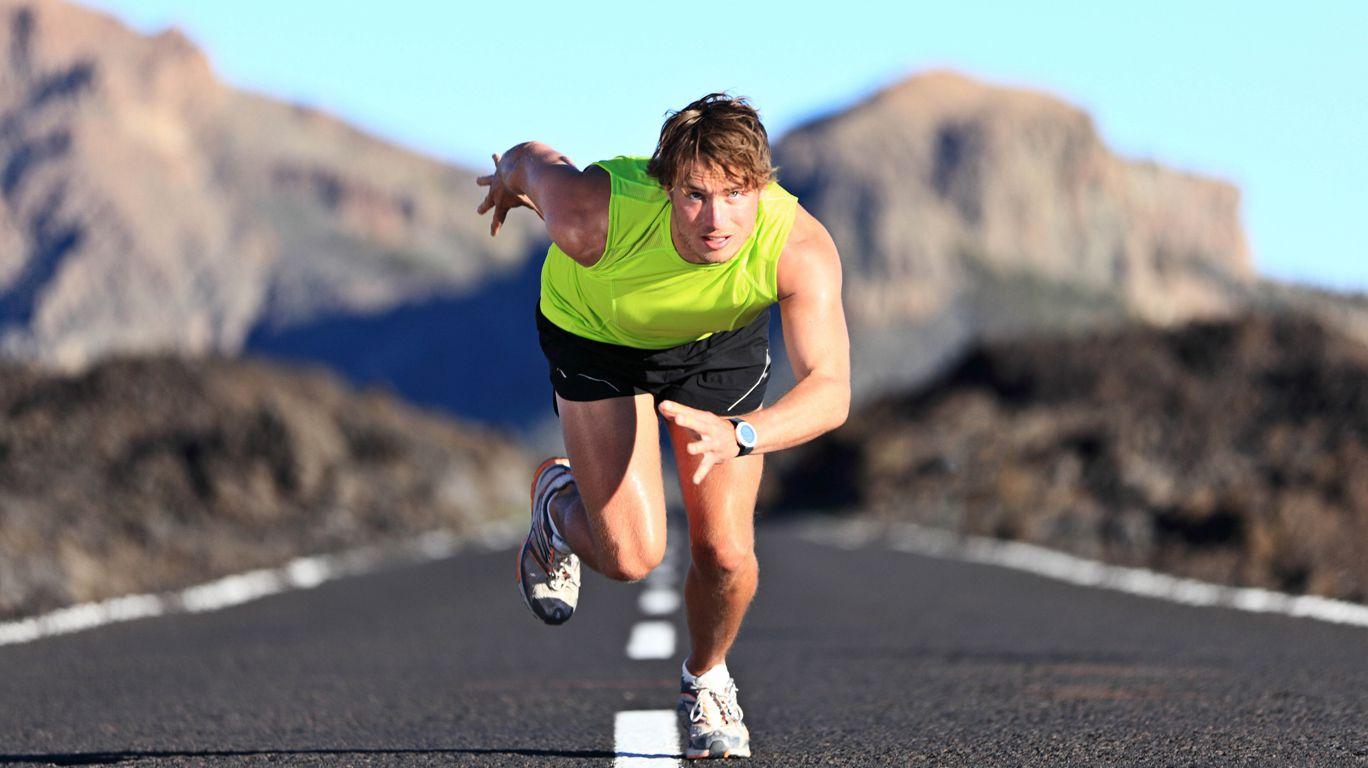 Бег спортсмена