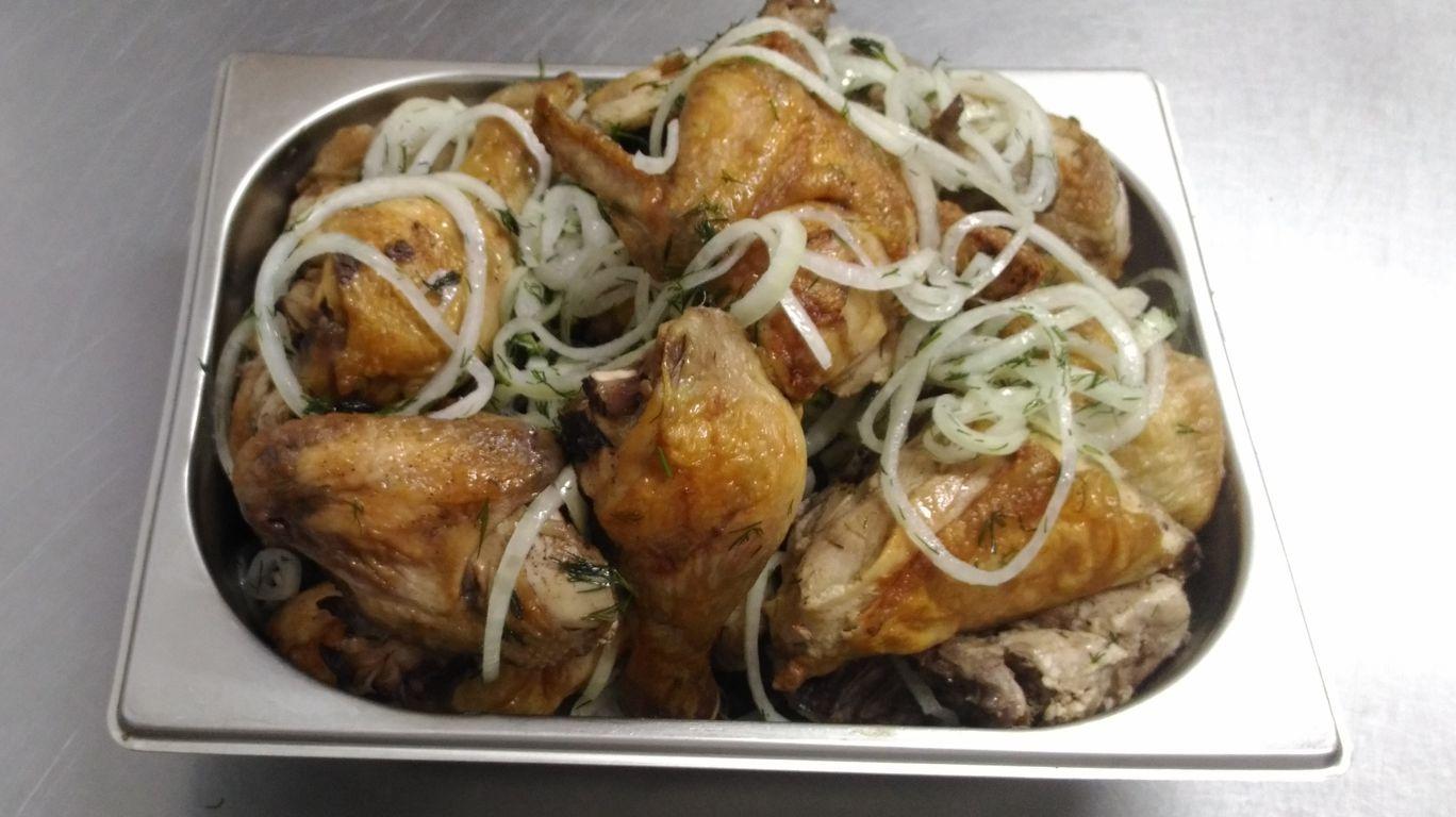 Курица с луком