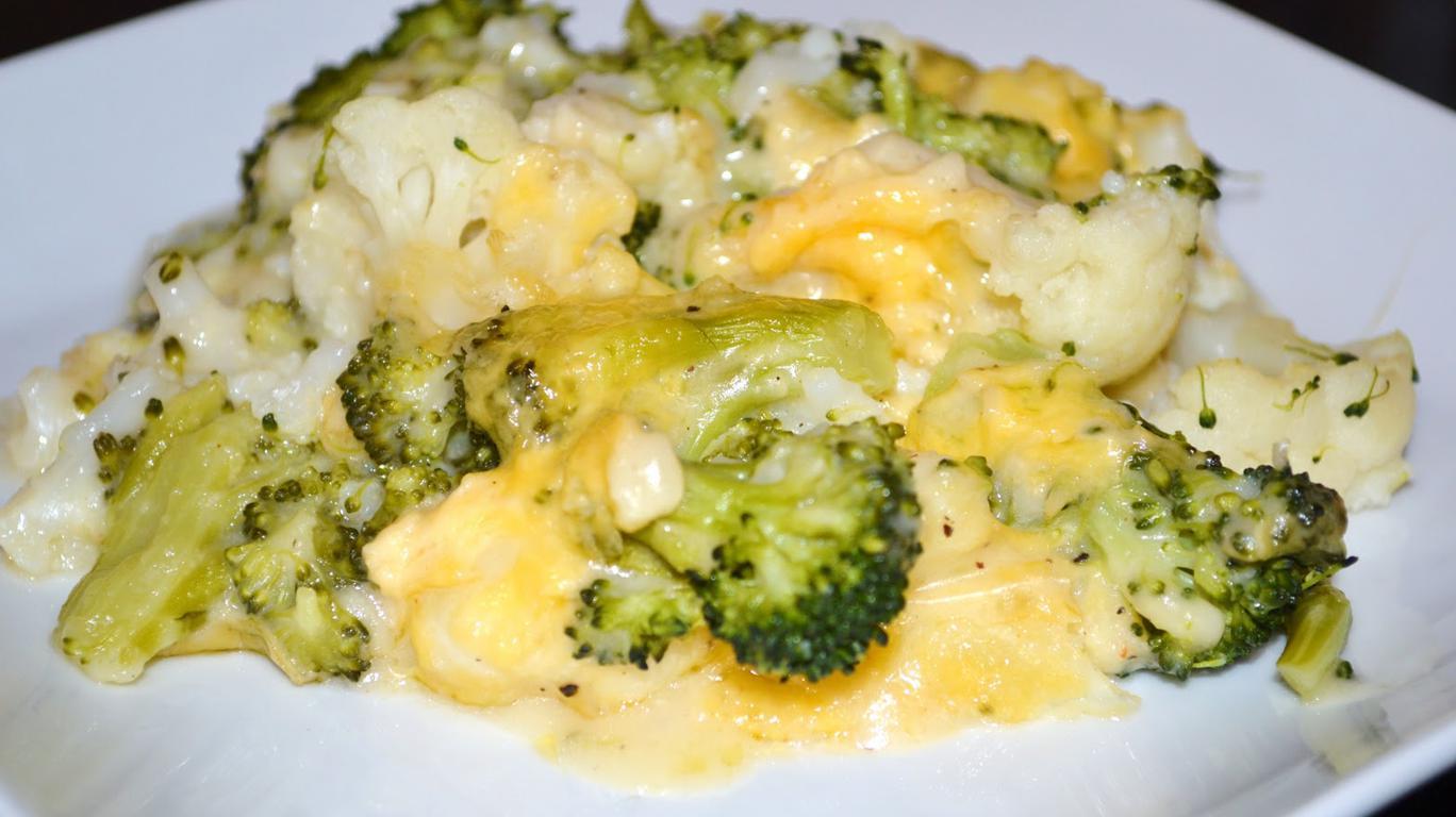 Брокколи с сыром и творогом